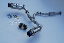 Invidia N1 Catback Exhaust, TI Tips FRS / BRZ