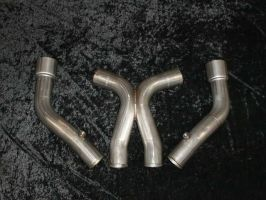 Stainless works Shelby GT500 Offroad Leadpipes and X-pipe