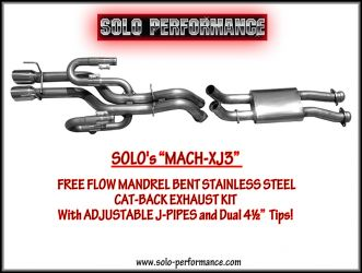 SOLO Performance MACH-XJ3 CAT Back Exhaust Kit